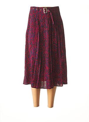 Jupe mi-longue rouge MOLLY BRACKEN pour femme