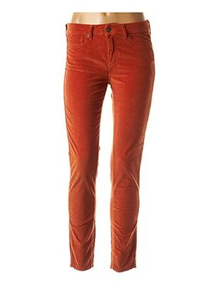 Pantalon casual orange FIVE pour femme