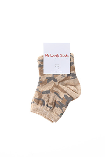 Chaussettes beige MY LOVELY SOCKS pour fille