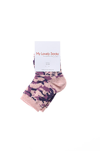Chaussettes rose MY LOVELY SOCKS pour fille