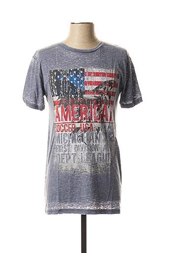 T-shirt manches courtes gris BRAVE SOUL pour homme