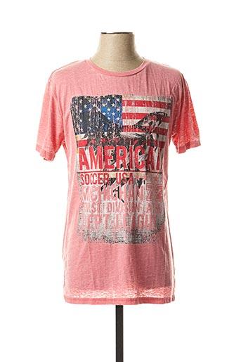 T-shirt manches courtes rose BRAVE SOUL pour homme