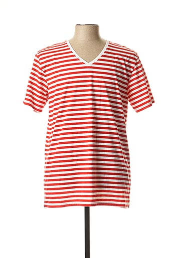 T-shirt manches courtes rouge DT CLOTHES pour homme