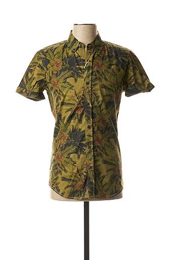 Chemise manches longues vert ALCOTT pour homme