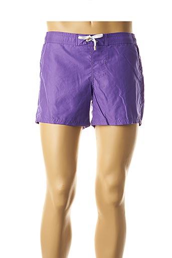 Short de bain violet C&O BEACH pour homme