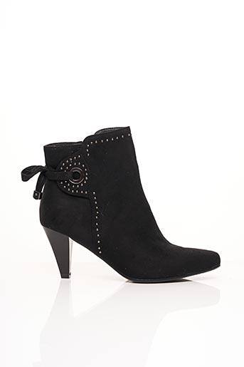 Bottines/Boots noir ELUE PAR NOUS pour femme