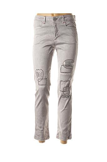 Jeans coupe slim gris DANIELA DALLAVALLE pour femme