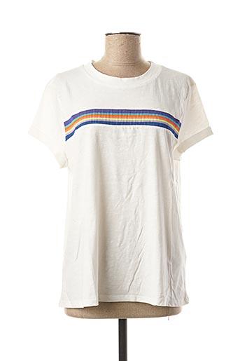 T-shirt manches courtes blanc EDC pour femme