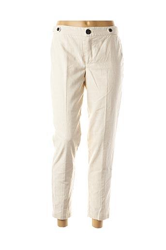 Pantalon 7/8 beige VILA pour femme
