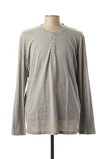 T-shirt manches longues gris SELECTED pour homme