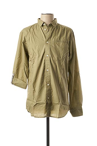 Chemise manches longues vert SELECTED pour homme