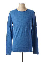 Pull col rond bleu SELECTED pour homme seconde vue