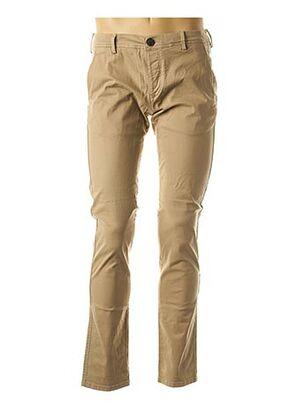 Pantalon casual beige SELECTED pour homme