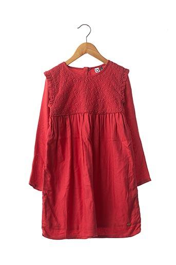 Robe mi-longue rouge 3 POMMES pour fille