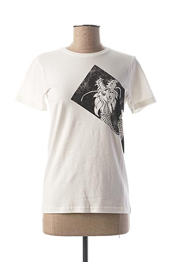 T-shirt manches courtes blanc BECKARO pour fille