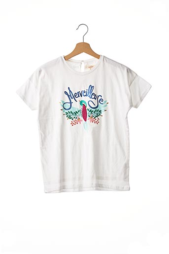 T-shirt manches courtes blanc CATIMINI pour fille