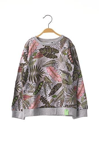 Sweat-shirt gris 3 POMMES pour fille