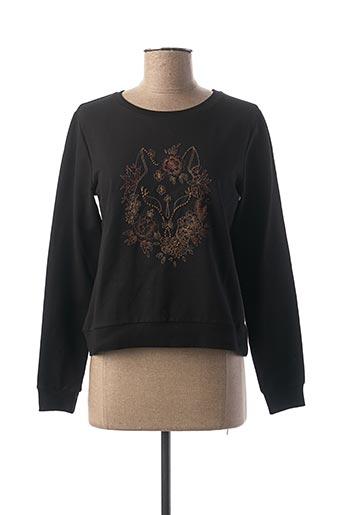 Sweat-shirt noir BECKARO pour fille