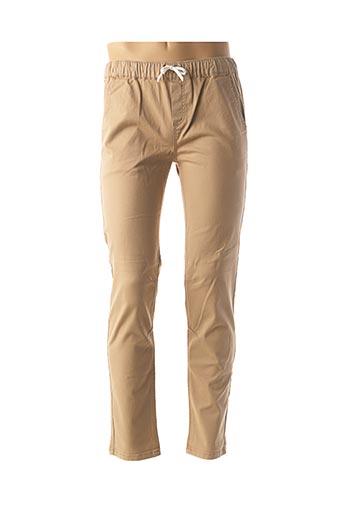 Pantalon casual beige BECKARO pour garçon