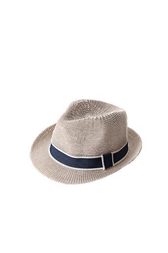 Chapeau beige 3 POMMES pour enfant