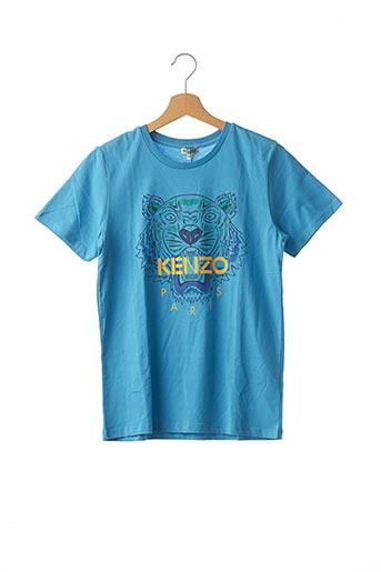 T-shirt manches courtes bleu KENZO pour garçon