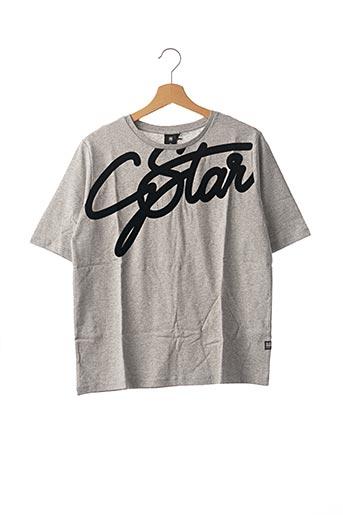 T-shirt manches courtes gris G STAR pour garçon