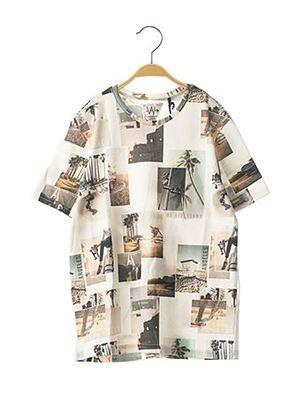 T-shirt manches courtes blanc IKKS pour garçon