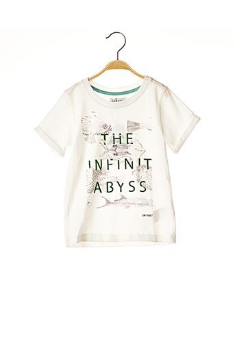 T-shirt manches courtes blanc JEAN BOURGET pour garçon