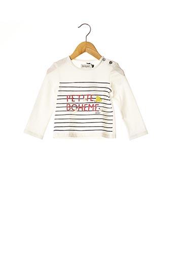 T-shirt manches longues blanc JEAN BOURGET pour fille