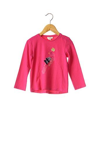 T-shirt manches longues rose CATIMINI pour fille