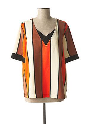 Blouse manches courtes orange SCOTCH & SODA pour femme