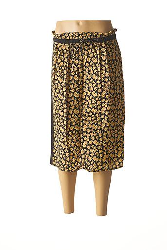 Jupe mi-longue jaune SCOTCH & SODA pour femme