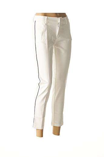 Pantalon 7/8 blanc REIKO pour femme