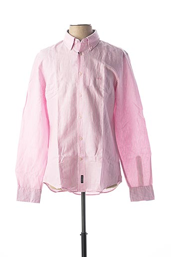 Chemise manches longues rose MC GREGOR pour homme