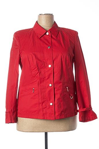 Veste casual rouge FE CLASSIQUE CLUB pour femme