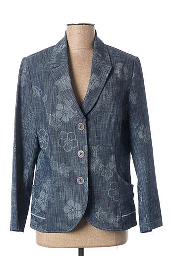 Veste chic / Blazer bleu K'TENDANCES pour femme