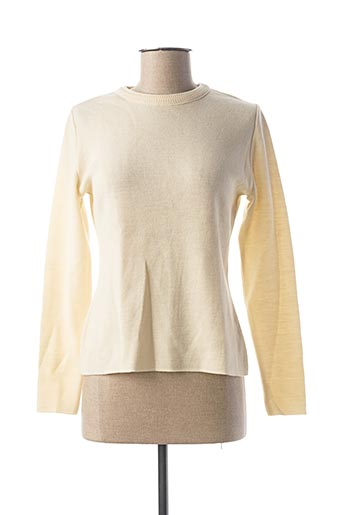 Pull col rond beige CÔTE NATURE pour femme