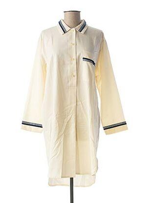 Chemise de nuit beige VANIA pour femme