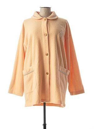 Robe de chambre orange VANIA pour femme