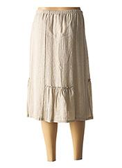 Jupe mi-longue beige SAINT CHARLES pour femme seconde vue