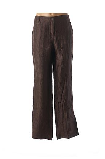 Pantalon casual marron LEBEK pour femme