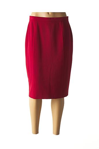 Jupe mi-longue rouge ALMINA pour femme
