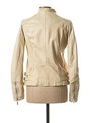 Veste en cuir beige ROSE GARDEN pour femme seconde vue