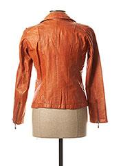 Veste en cuir orange ROSE GARDEN pour femme seconde vue
