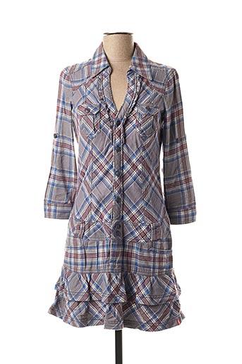 Robe courte gris EDC BY ESPRIT pour femme