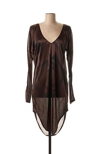 Robe courte marron DIESEL pour femme