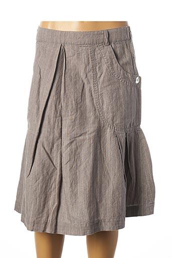 Jupe mi-longue gris DDP pour femme
