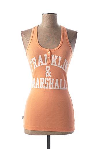 Débardeur orange FRANKLIN MARSHALL pour femme
