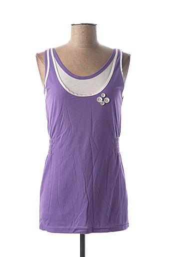 Débardeur violet ICHI pour femme