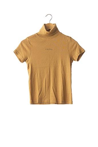T-shirt manches courtes beige SCHOOL RAG pour femme